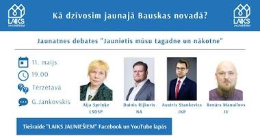 """Priekšvēlēšanu debates """"Kā dzīvosim jaunajā Bauskas novadā?"""""""