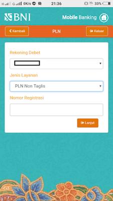Bayar PLN Non Taglis Lewat BNI Mobile Banking dan Internet Banking