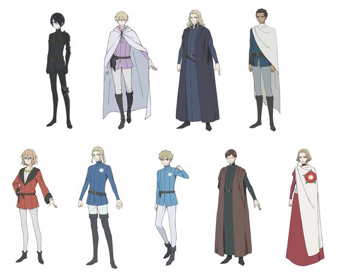 Requiem por el rey de la rosa (Baraou no Souretsu) anime - personajes