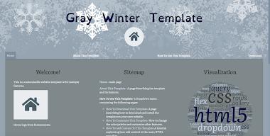 Gray Winter Template