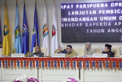 Seluruh Fraksi DPRD Lampung Sepakat Lanjutkan Bahas Raperda APBD 2019