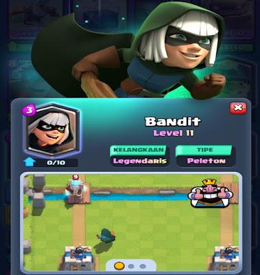 Mengenal Kartu Legendary Bandit Clash Royale