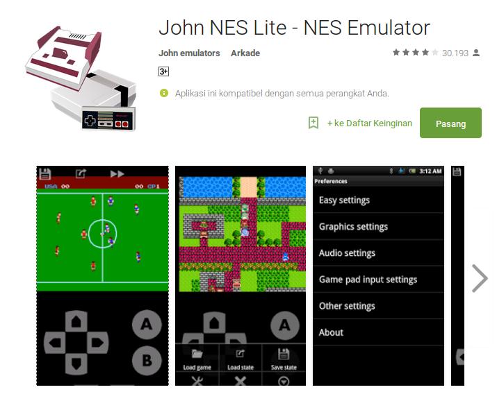 John nes emulator android
