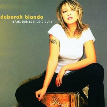 """Deborah Blando na capa do disco """"A Luz Que Acende o Olhar"""", de 2002"""