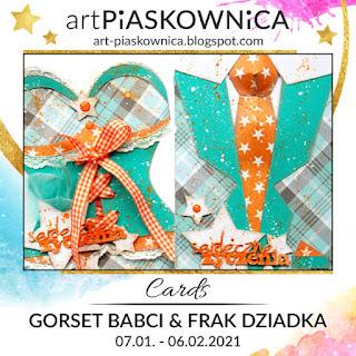 CARDS - gorset Babci, frak Dziadka