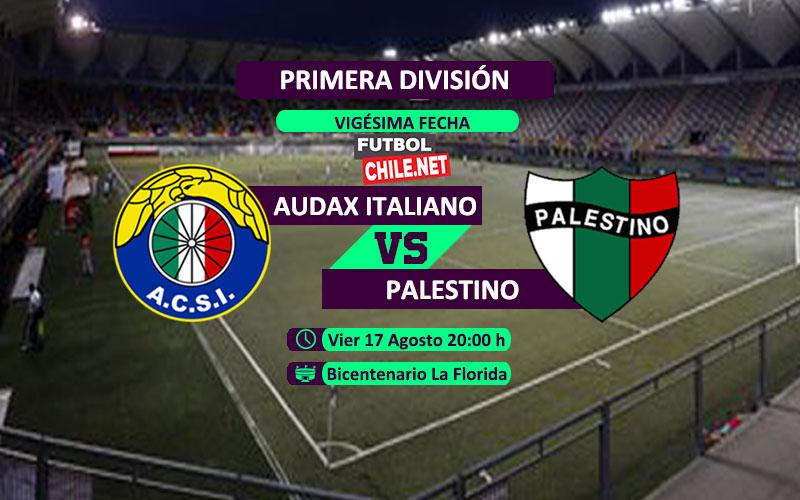 Audax Italiano vs Palestino en vivo y online por la Primera División Chile