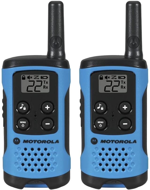Motorola T100 radio Talkabout, 2 unidades, T100, paquete de 2, Azul Neón