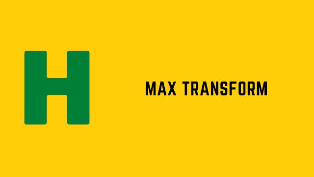 HackerRank Max Transform problem solution