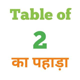 2 Ka Pahada ( 2 का पहाड़ा ) 2 ka pahada in hindi