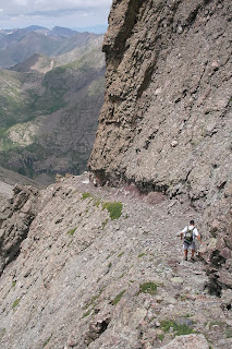 Kit Carson Avenue is a common part of several mountaineering routes on Kit Carson Mountain