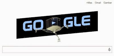 Google Doodle Hari Ini: Menampilkan Robot Philae Mendarat di Nukleus Komet