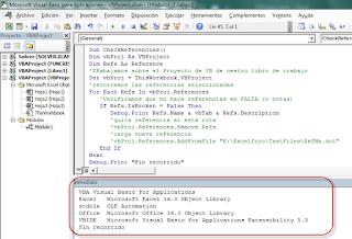 VBA: Verificar Referencias en un Proyecto VB