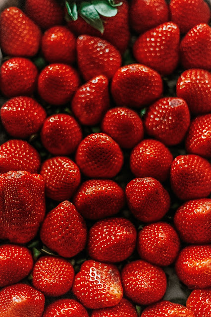 a bunch of strawberries