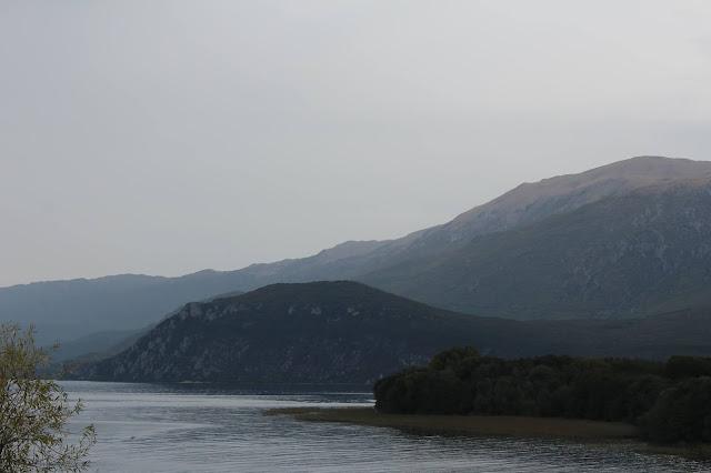 Ohrid lake mountains sky North Macedonia nature