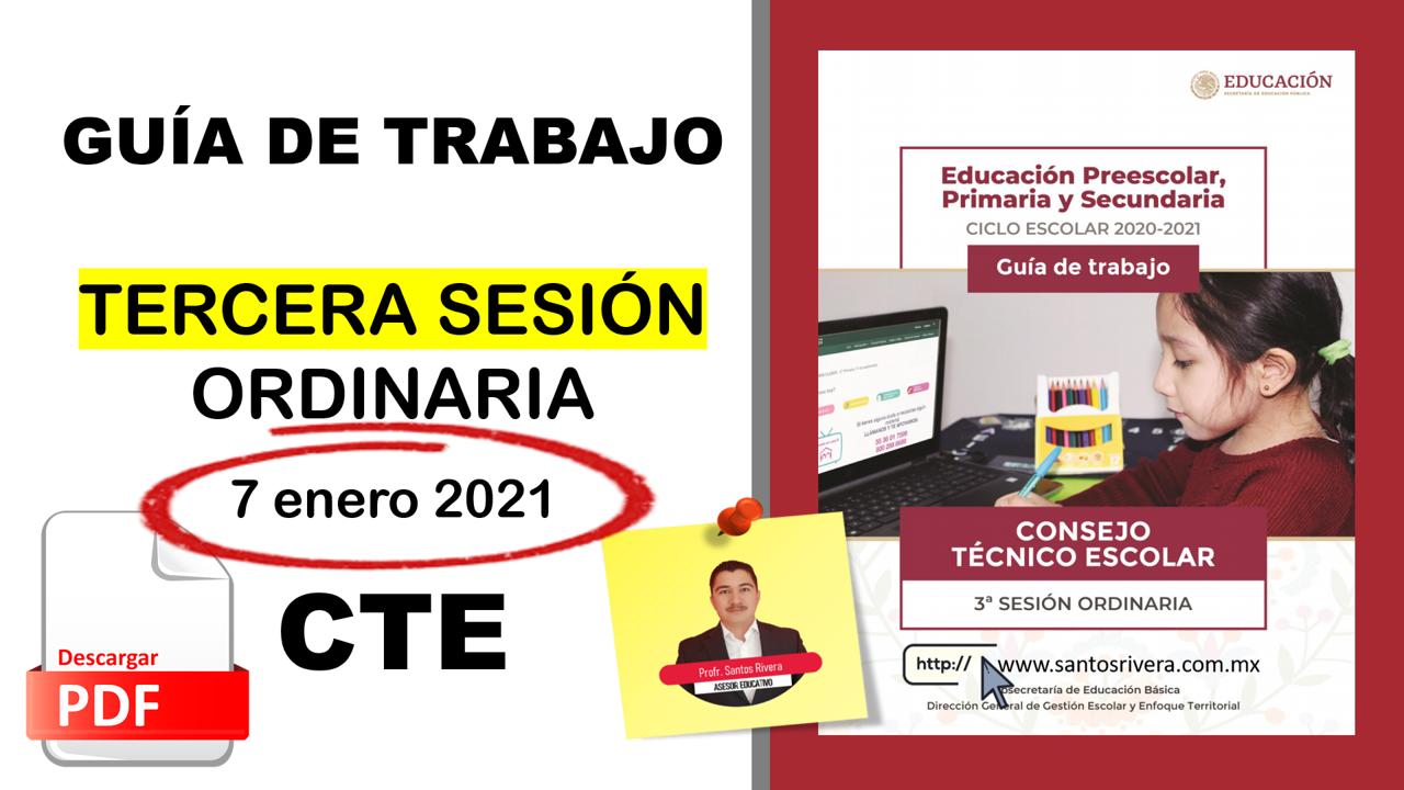 Productos contestados de la Tercera Sesión Ordinaria del Consejo Técnico Escolar (enero 2021)