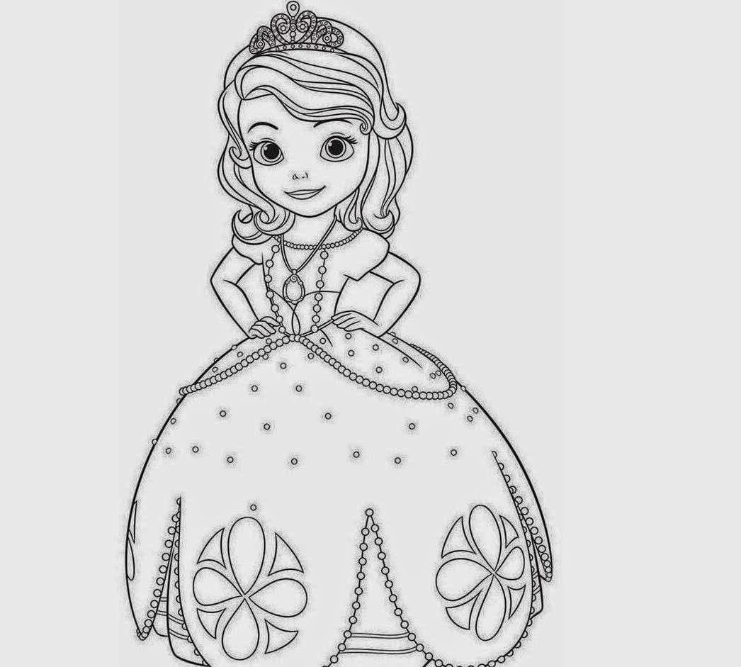 Fun Amp Learn Free Worksheets For Kid Sofia The First Coloring Pages