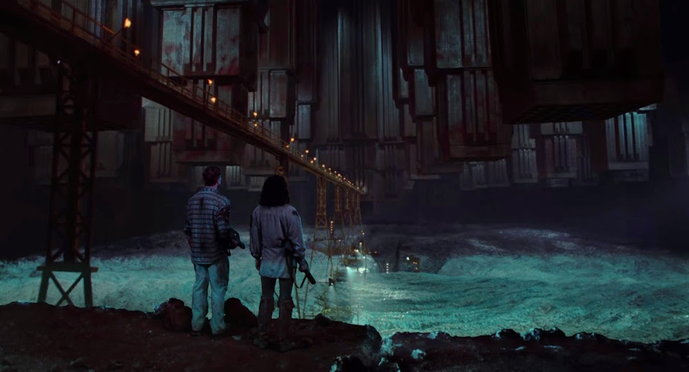 Brutalist architecture in Total Recall (1990) - Pyramid Mines on Mars
