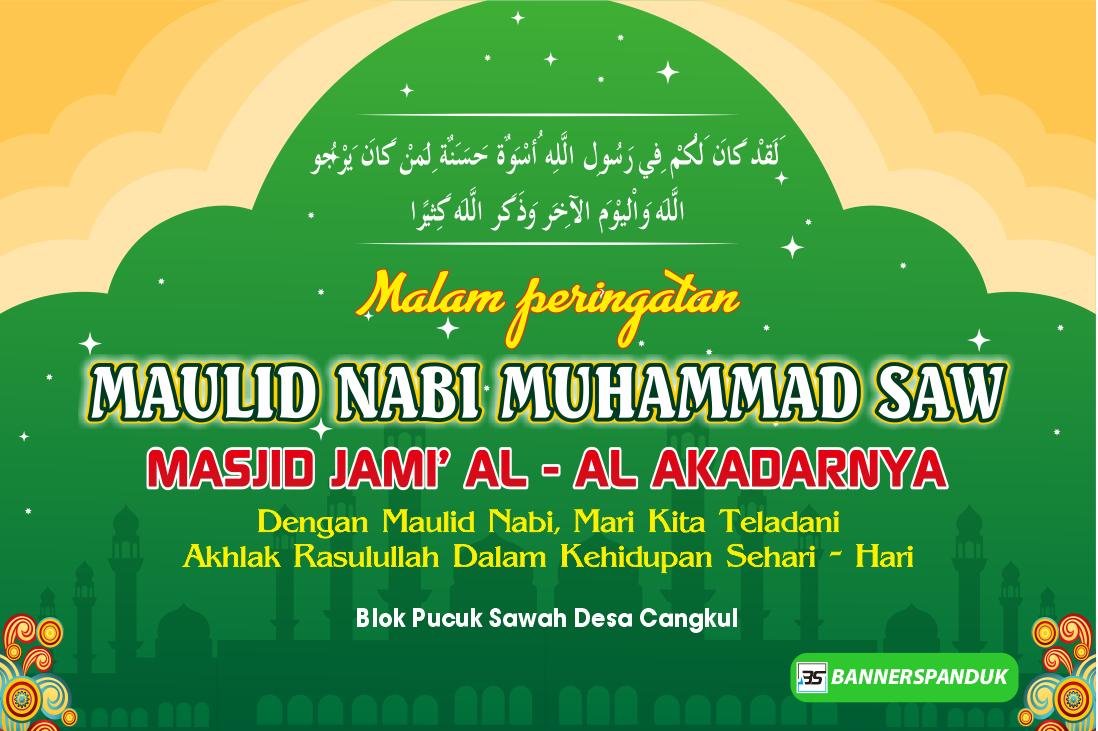 Contoh Banner Spanduk Maulid Nabi Muhammad Saw Cdr Bannerspanduk