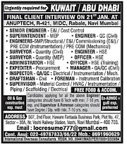 KUWAIT JOBS : RQUIRED FOR A LEADING COMPANY IN KUWAIT .g