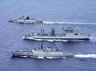 Indian Navy in Malabar Drill