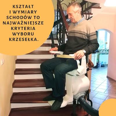 Kształt i wymiary schodów to najważniejsze kryteria wyboru krzesełka