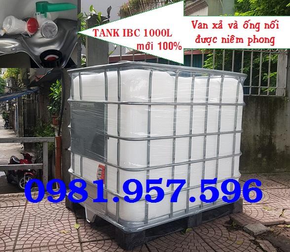 Bồn nhựa 1000L vuông, bồn nhựa trắng vuông 1000L, bồn 1000L cũ