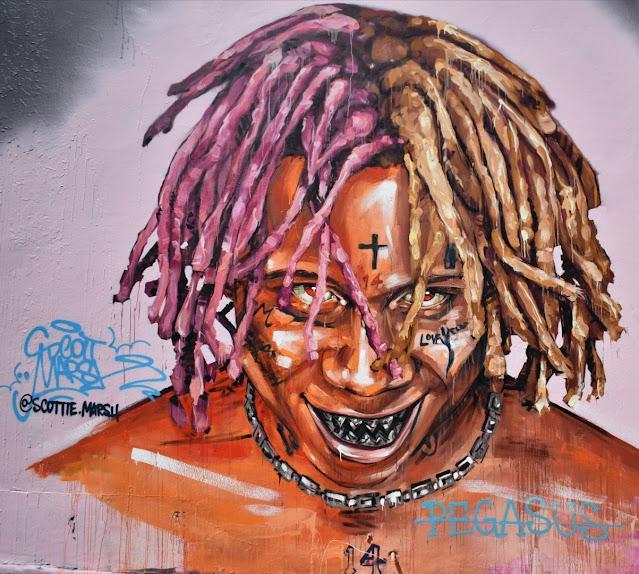 Newtown Street Art - 'Trippie Redd' by Scott Marsh