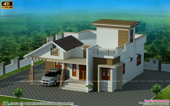Top view rendering of the house