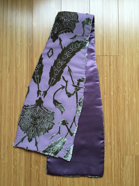 Diary of a Chain Stitcher: Fabrics for Sale Silk Velvet Devoré Scarf