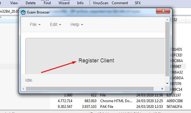Klik Registrasi Client CBT Daring Online Proktor dan Teknisi