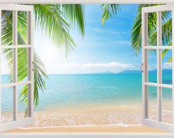 tranh tường 3d cửa sổ bình dương
