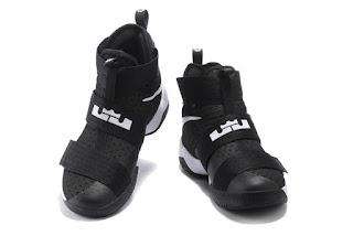 Nike LeBron Soldier 10 Black White , Sepatu Basket Murah , Sepatu basket Premium