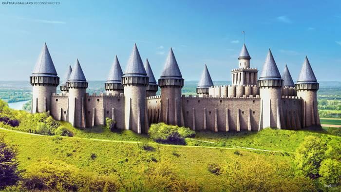Chateau-Gaillard (Les Andelys, France).