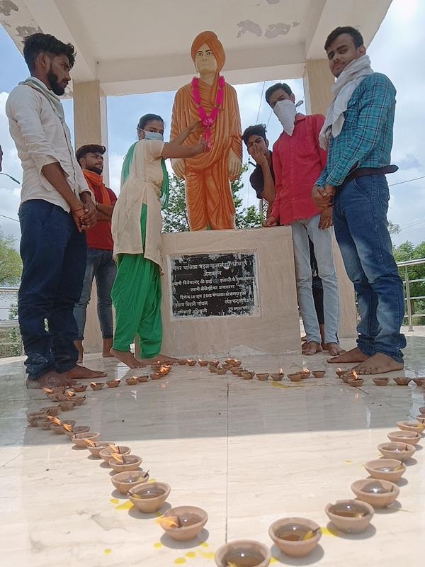 एबीवीपी राजाखेड़ा ने हर्षोल्लास के साथ मनाया 72वाँ स्थापना दिवस