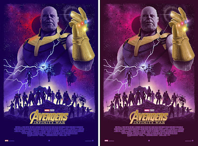 New York Comic Con 2019 Exclusive Avengers Infinity War Screen Print by Marko Manev x Grey Matter Art x Marvel