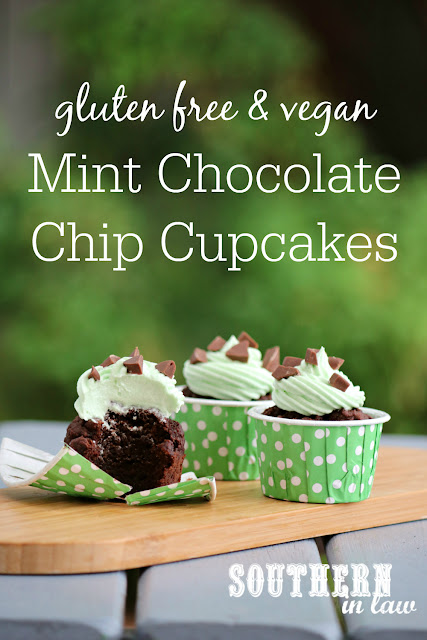 Easy Mint Chocolate Chip Cupcakes Recipe - gluten free, vegan, low  fat, lower sugar, kid friendly, birthday cakes, wheat free, dairy free, egg free