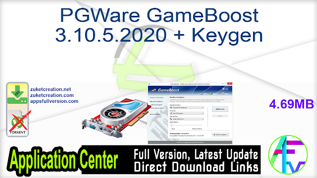 PGWare GameBoost 3.10.5.2020 + Keygen