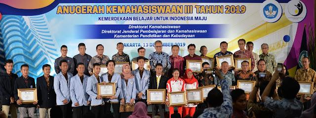 Anugerah Kemahasiswaan III Tahun 2019