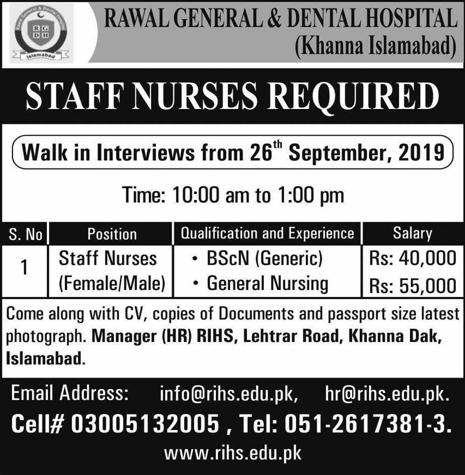Nurses Staff Jobs Male and Female