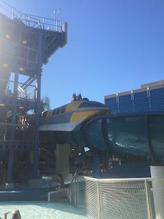 Yellow Monorail Slide Disneyland Hotel