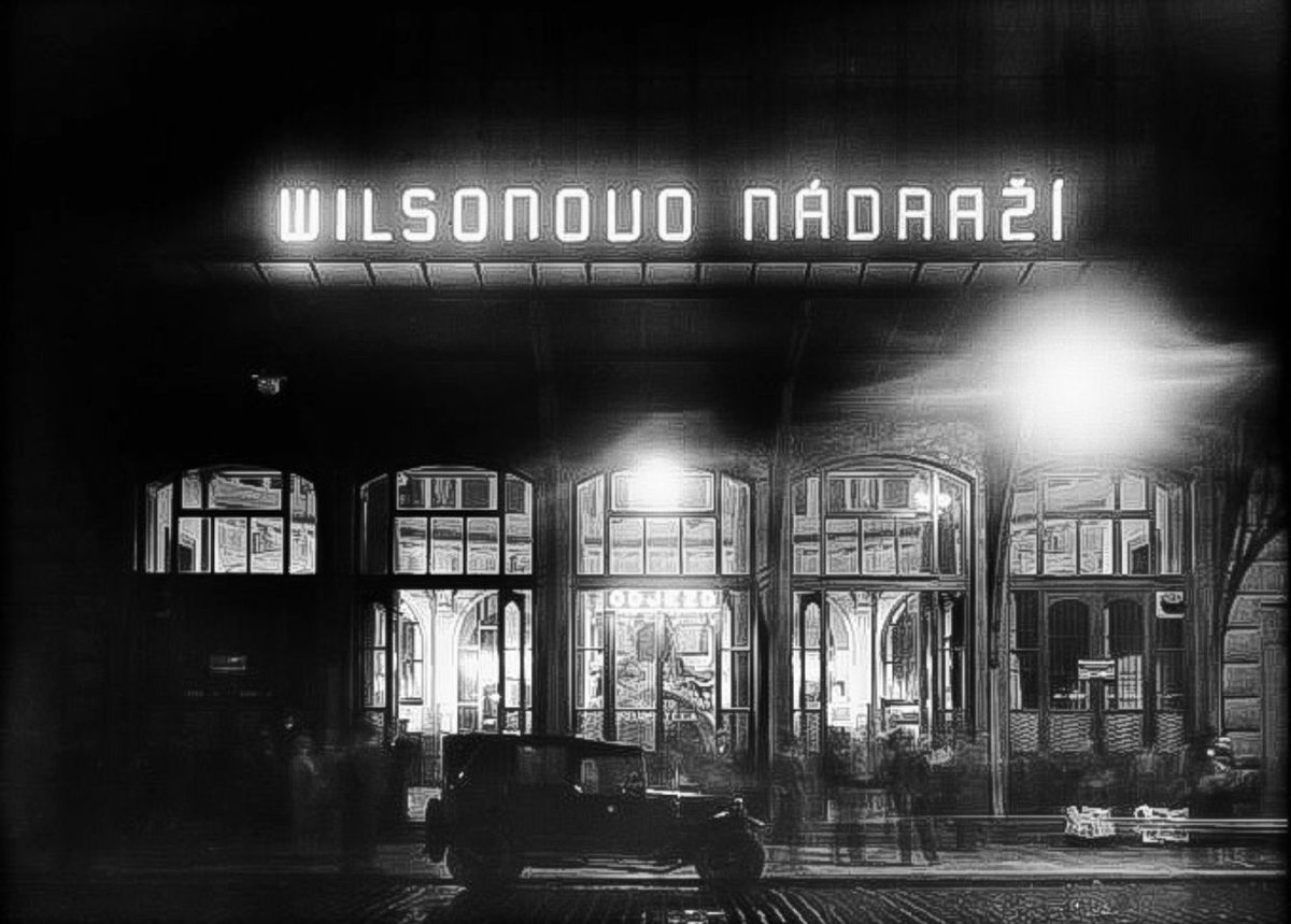 Wilsonovo nádraží v roce 1928