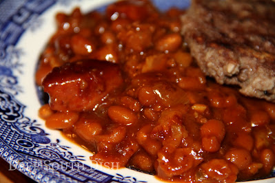 Make a jump from beefed up barbecue baked beans with beef, bacon and spicy andouille - add other leftover smoked meats if you like too. Jazz that up with hot sauce, Creole mustard, Cajun seasoning and jalapeno and you have one fine pot of beans y'all.