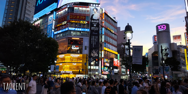shibuya tokyo night view