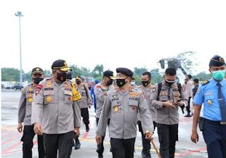 Kapolda Sumut Sambut Kedatangan Kabaharkam Polri dalam Rangka Supervisi Penanganan Covid-19 dan Tahapan Pilkada di Sumut