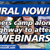 VIRAL TODAY: TEACHERS CAMP ALONG THE ROAD TO ATTEND WEBINARS