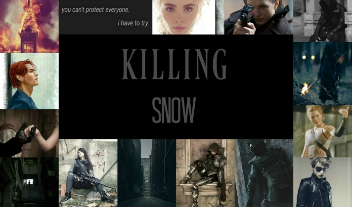 A desktop background collage for Killing Snow