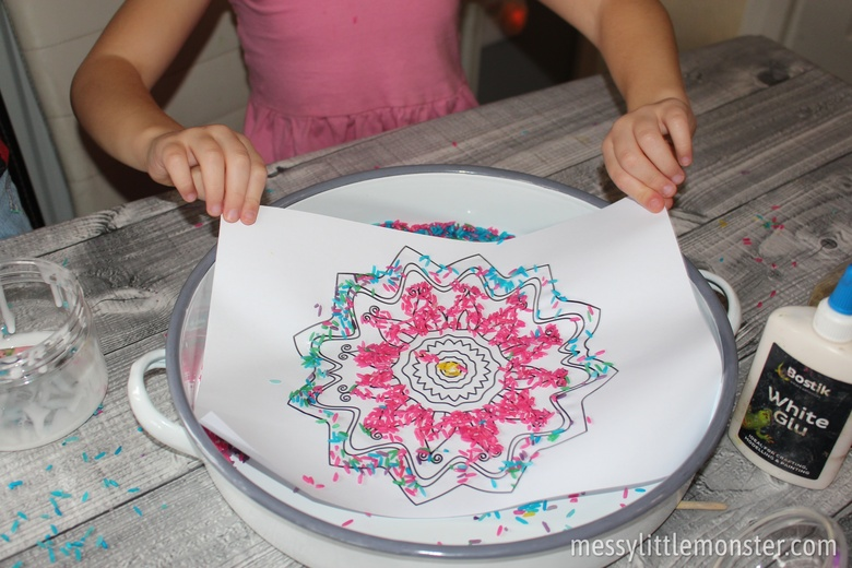Rangoli patterns for kids