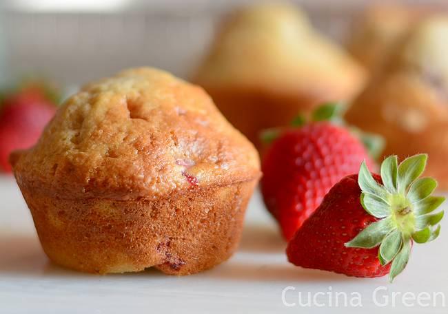 muffin senza burro fragole