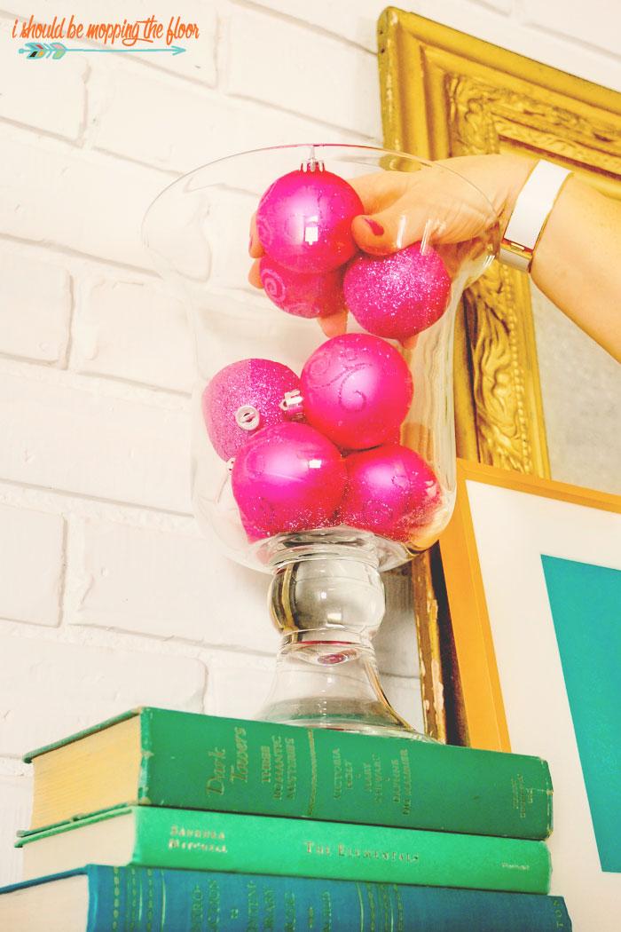 Hot Pink Christmas Ornaments