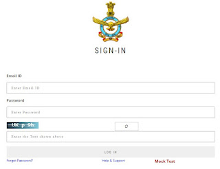 Indian Air Force AFCAT Entry 02/2021 Admit Card